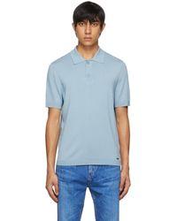 HUGO ブルー San Sebastiano ポロシャツ