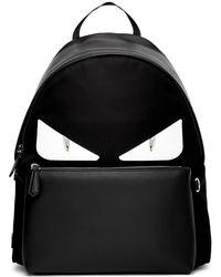 4b08a0152b44 Fendi - Black And White Bag Bugs Backpack - Lyst