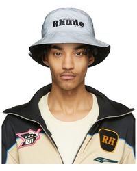 Rhude Reversible Grey Puma Edition Bucket Hat - Black