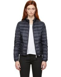 Moncler Navy Down Lans Jacket - Blue