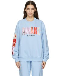 AWAKE NY Ssense 限定 ブルー Bloom ロゴ スウェットシャツ