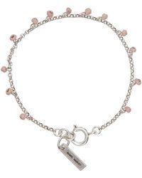 Isabel Marant ピンク ガラス チャーム ブレスレット - メタリック