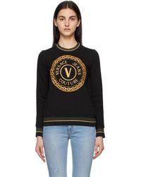 Versace Jeans Couture ブラック V Emblem スウェットシャツ