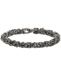Ugo Cacciatori - Silver Byzantine Bracelet - Lyst