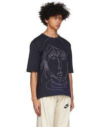 Bless T-shirt bleu marine Stitched Starcut II