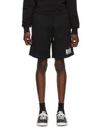 DIESEL - Black P-alf Shorts - Lyst