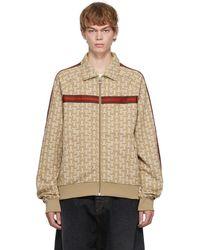 Lanvin ブラウン モノグラム トラックスーツ セーター