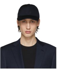 Brioni Navy Silk Baseball Cap - Blue