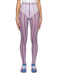 Chopova Lowena Legging raye mauve - Violet