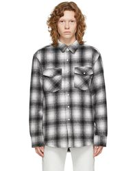Noon Goons Grey & White Flannel Tahoe Jacket
