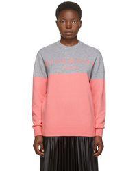 Givenchy - Pull en cachemire à logo rose et gris - Lyst