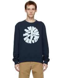 Lanvin ネイビー ロゴ スウェットシャツ - ブルー
