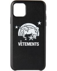 Vetements ブラック Unicorn Iphone 11 Pro Max ケース