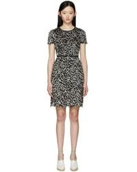 Burberry Prorsum - Black & White Fil Coupé Dress - Lyst