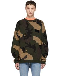 Off-White c/o Virgil Abloh - Green Camouflage Sweater - Lyst