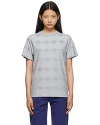 Brain Dead Grey Running Head Textured T-shirt