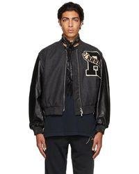 Rhude ブラック Uniform バーシティ ボンバー ジャケット