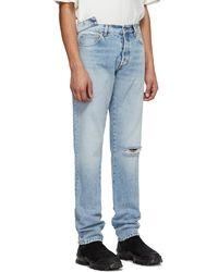 Heron Preston Blue Sami Miro Vintage Edition 5 Pocket Jeans