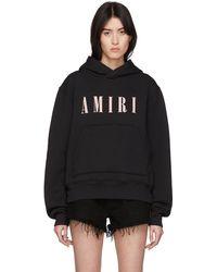 Amiri Pull à capuche et logo noir core