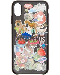 Vetements - Black Sticker Iphone Xs Max Case - Lyst