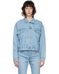 Levi's ブルー Heritage-fit トラッカー ジャケット