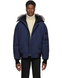 Canada Goose Chilliwack Fur-trimmed Arctic-tech Bomber Jacket - Blue