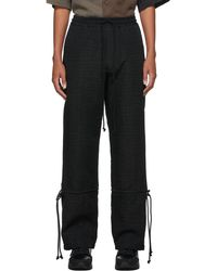 Song For The Mute Black Canvas Crinkled Lounge Pants