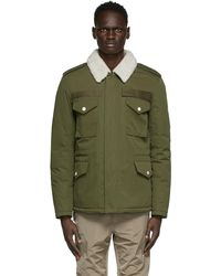 Army by Yves Salomon Green Down & Shearling Jacket
