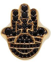 Vivienne Westwood ゴールド & ブラック Rojava リング - メタリック
