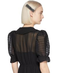 Marc Jacobs The Scalloped Barrette - Black