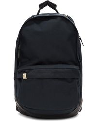 Visvim Navy Cordura And Leather 22l Backpack - Blue