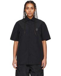 A_COLD_WALL* * ブラック Rhombus Badge ショート スリーブ シャツ