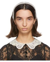 Gucci Silver L Headband - Brown