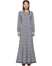 Y. Project Grey Stripe Polo Dress