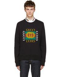 Gucci - Black Logo Pullover - Lyst