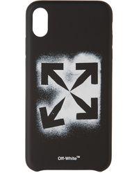 Off-White c/o Virgil Abloh - ブラック ステンシル Iphone Xs Max ケース - Lyst