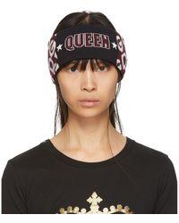 Dolce & Gabbana バーガンディ And ブラック Queen ヘッドバンド