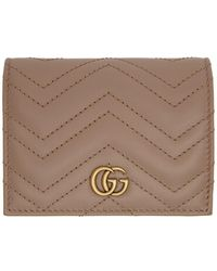 Gucci - Pink GG Marmont Card Case Wallet - Lyst