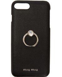 Miu Miu - Black Madras Ring Iphone 8 Plus Case - Lyst