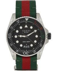 Gucci Silver Xl Dive Watch - Multicolour