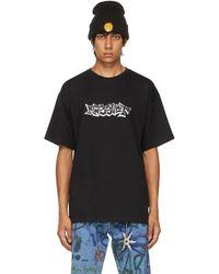 Rassvet (PACCBET) ブラック ロゴ T シャツ