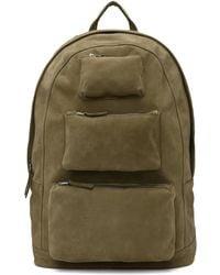 PB 0110 - Khaki Suede Haw 1 Backpack - Lyst