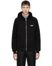 Givenchy | Black Logo Patch Hoodie | Lyst