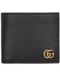 Gucci - Black GG Marmont Bifold Wallet - Lyst