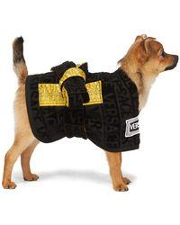 Versace Peignoir pour chien noir Barocco
