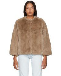 Yves Salomon - Pink Fur Jacket - Lyst