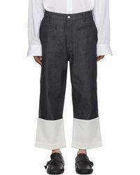 Loewe Navy Fisherman Jeans - Blue