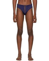 Missoni Navy Drawstring Swim Briefs - Blue