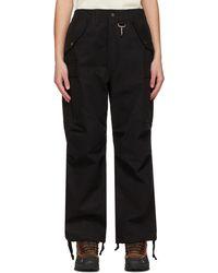 Reese Cooper Pantalon cargo en toile de coton noir