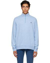 Polo Ralph Lauren ブルー ロゴ ジップ セーター